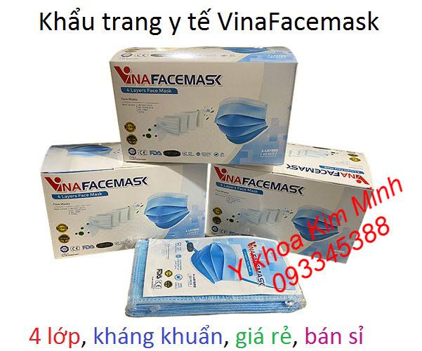 Khẩu trang y tế 4 lớp VinaFacemask giá sỉ