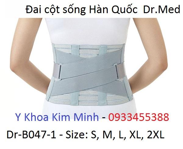 Đai cột sống Hàn Quốc Dr Med Dr-B047-1