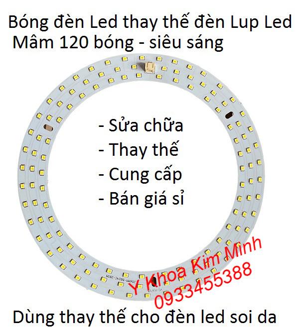Sừa chữa đèn lup led soi da, bóng đèn led thay thế