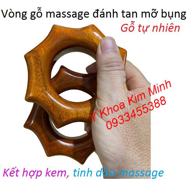 Vòng gỗ massage đánh tan mỡ bụng