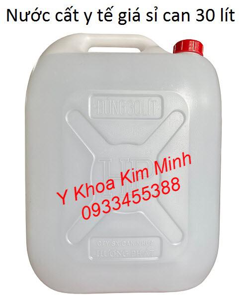 Nước cất y tế 30 lít/can