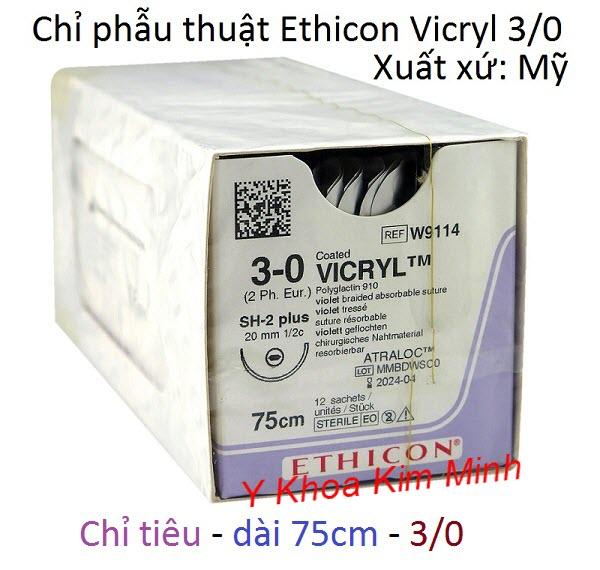 Chỉ tiêu Vicryl Ethicon 3-0