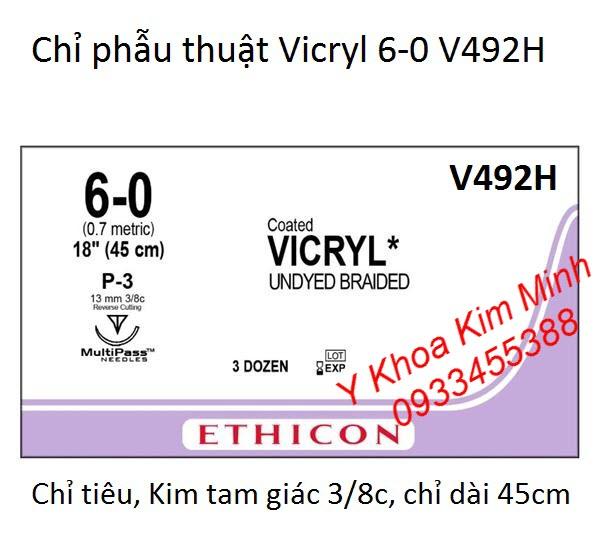 Vicryl 6-0 chỉ khâu phẫu thuật tự tiêu