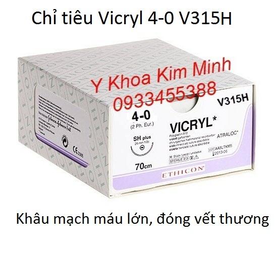 Chỉ Vicryl 4-0 V315H