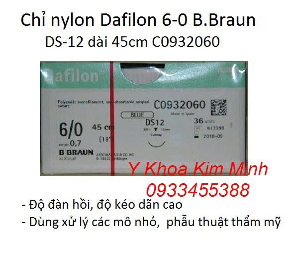 Chỉ nylon 6-0 Dafilon DS12 45cm