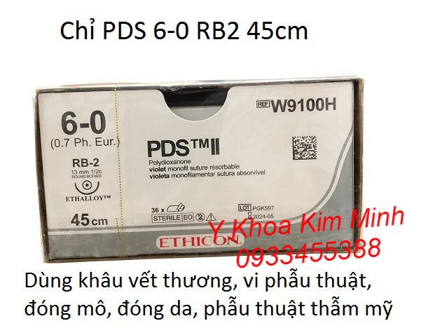 Chỉ khâu phẫu thuật PDS II 6-0 W9100H