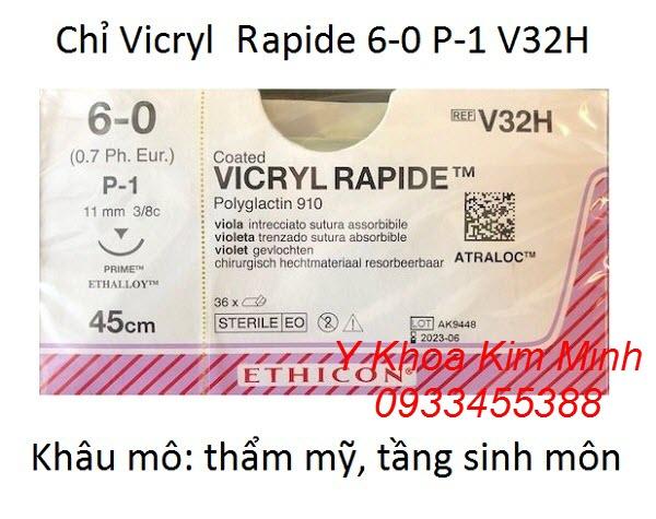 Chỉ Vicryl Rapide 6-0 P-1 V32H