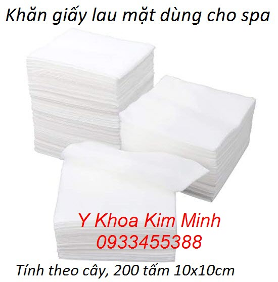 Khăn giấy lau mặt dùng cho spa cây 200 tờ