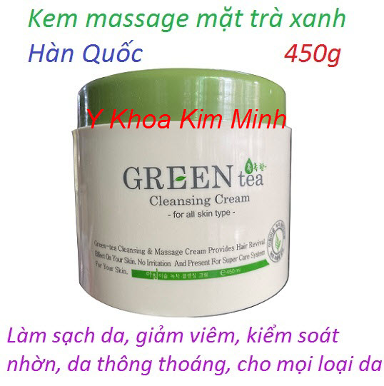 Kem massage mặt trà xanh Hàn Quốc 450g