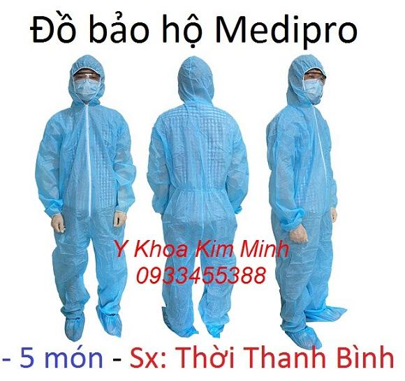 Đồ bảo hộ phòng dịch 5 món Medipro