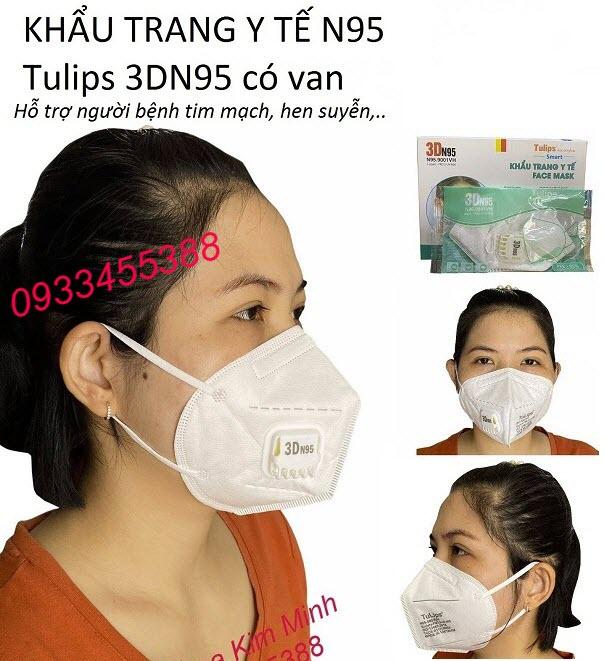 Khẩu trang y tế N95 Tulips Việt Nam