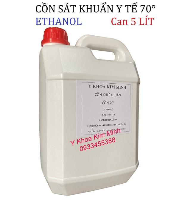 Cồn sát khuẩn y tế 70 độ Ethanol can 5 lít