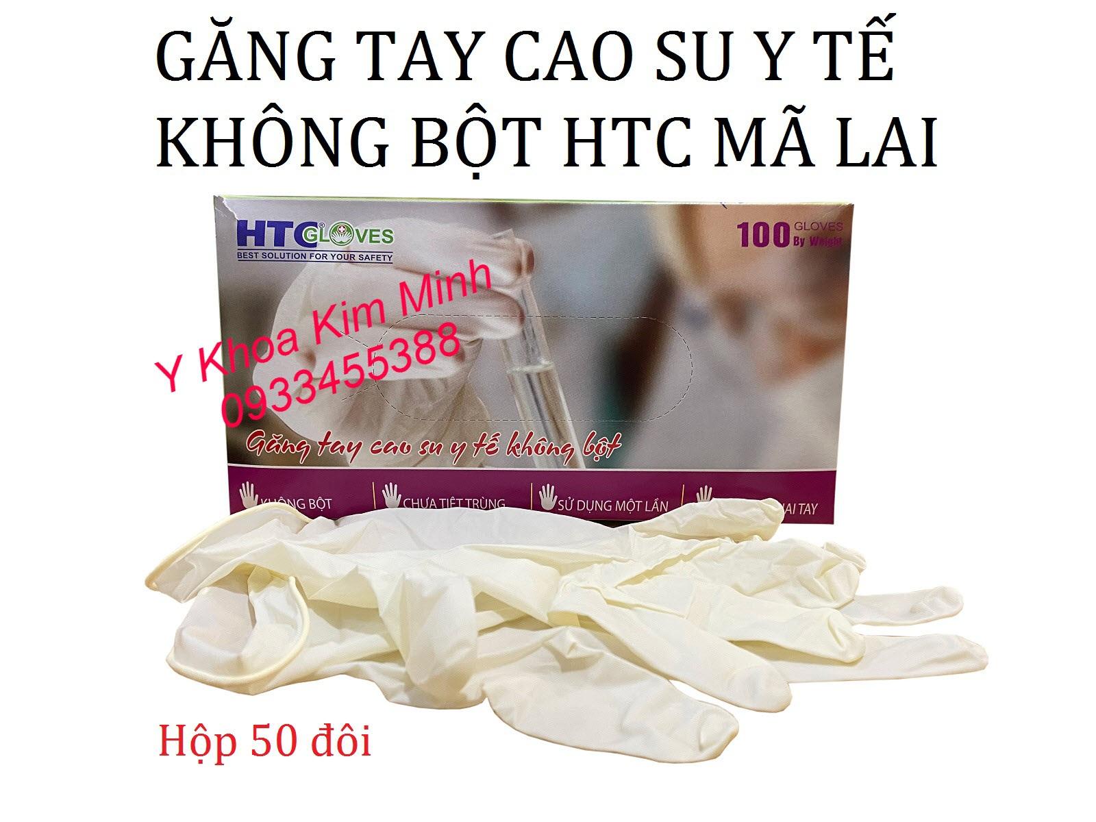 Găng tay cao su y tế không bột HTC