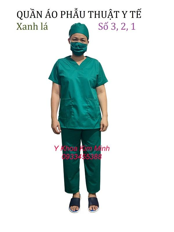 Quần áo phẫu thuật y tế nam nữ size S M L