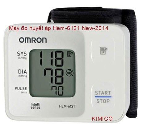 Máy đo huyết áp cổ tay Hem-6121-Omron