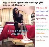 Hộp đá muối xông chân massage thải độc Himalaya
