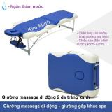 Giường massage xếp khúc chân nhôm