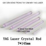 Linh kiện máy laser - gậy dẫn sóng màu tím 7x145mm