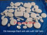 Đá massage thạch anh trắng sản xuất Việt Nam