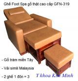 Ghế Foot Spa gỗ thật cao cấp GFN-319