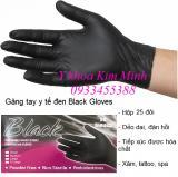 Găng tay y tế đen Black Gloves hộp 25 đôi