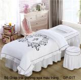 Bộ Grap trải giường spa trắng GP-01T