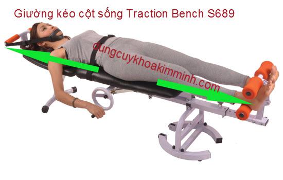 Giường kéo dãn cột sống bằng tay quay Traction Bench S-689