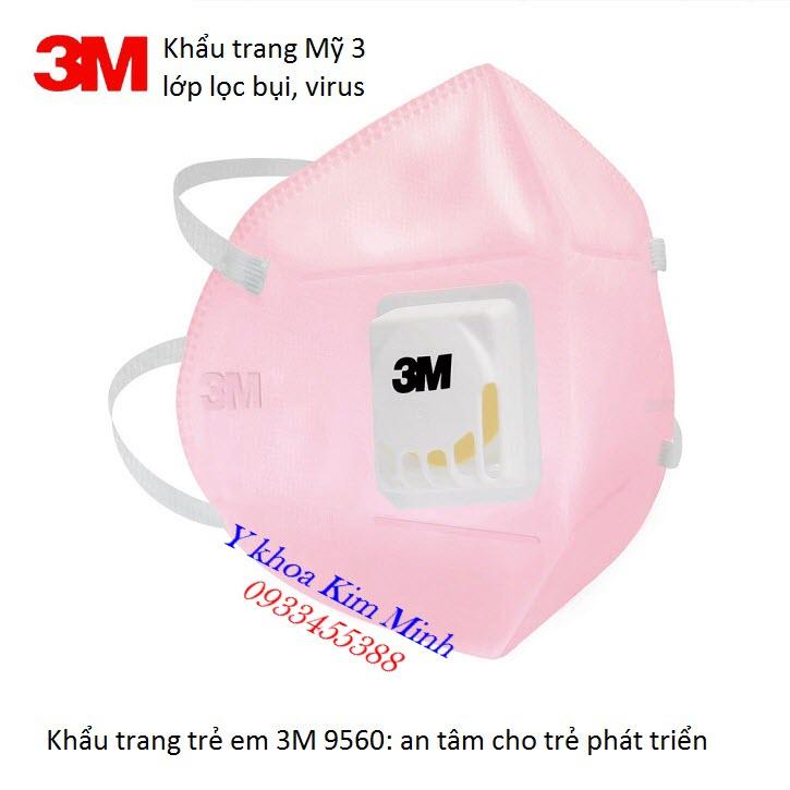 3M 9560 khẩu trang trẻ em lọc bụi và ngăn chặn virus - Y Khoa Kim Minh