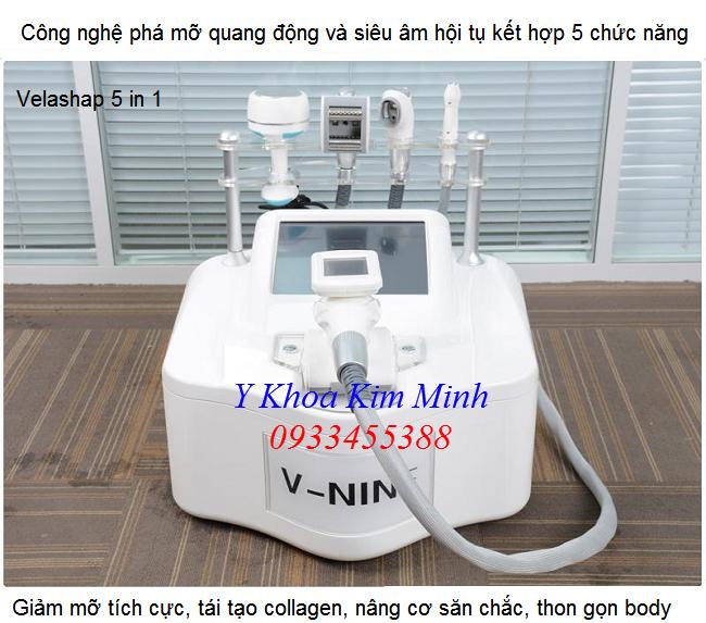 Thiết bị thẩm mỹ giảm béo cap cấp 5 trong 1 Velashap V-nine - Y khoa Kim Minh