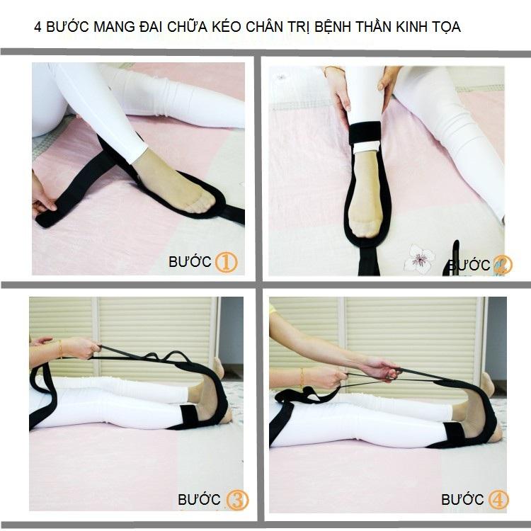 4 bước chuẩn bị chữa đau thần kinh tọa với đai DT-350 - Y khoa Kim Minh 0933455388