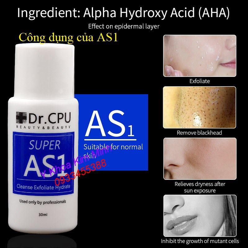 Dr CPU AS1 có công gì để làm sạch da - Y Khoa Kim Minh