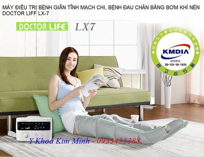 May dieu tri gian tinh mach bang tui khi bom dien Air Compressure Pump VX-7 Korea - Y Khoa Kim Minh 0933455388