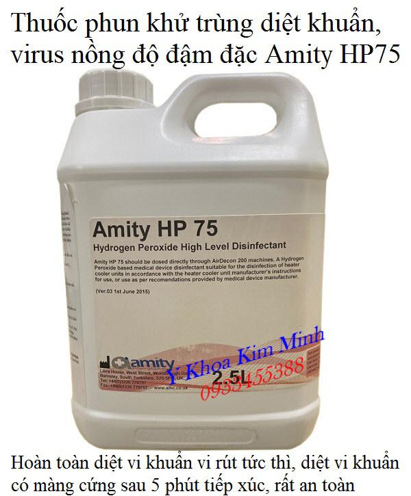 Dung dich phun khu trung dam dac Amity HP 75 - Y Khoa Kim Minh