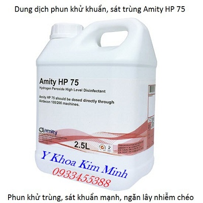 Dung dịch phun khử trùng phòng Amity HP 75 dạng đậm đặc dùng trong y tế - Y khoa Kim Minh