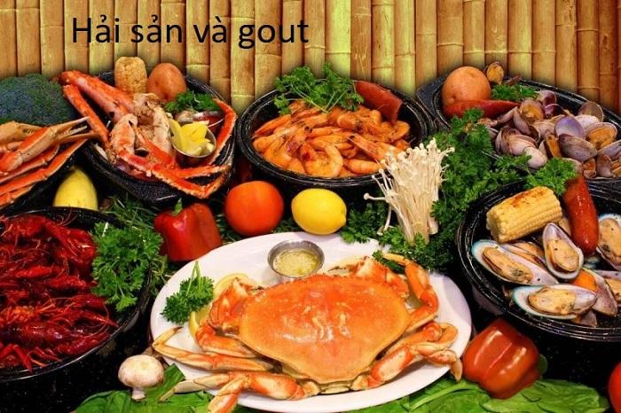 Ăn nhiều hải sản dễ gây tăng axit uric trong mau và làm bệnh gout trở nặng