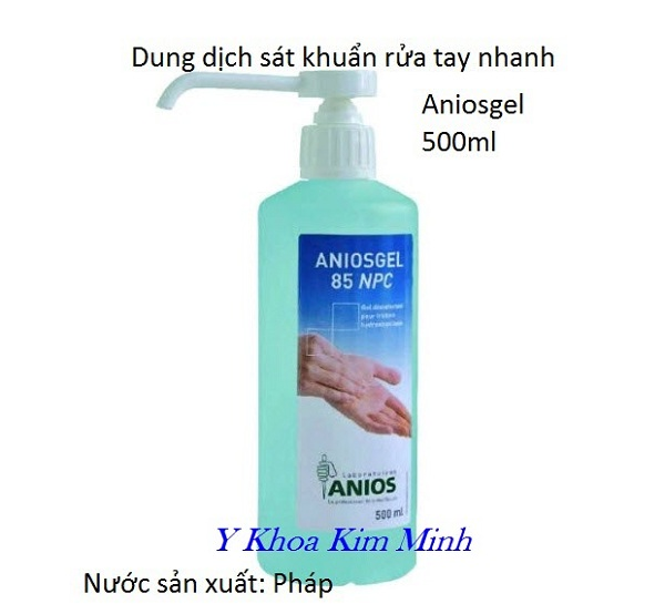Chai gel rửa tay nhanh Aniosgel 85 NPC - Y Khoa Kim Minh