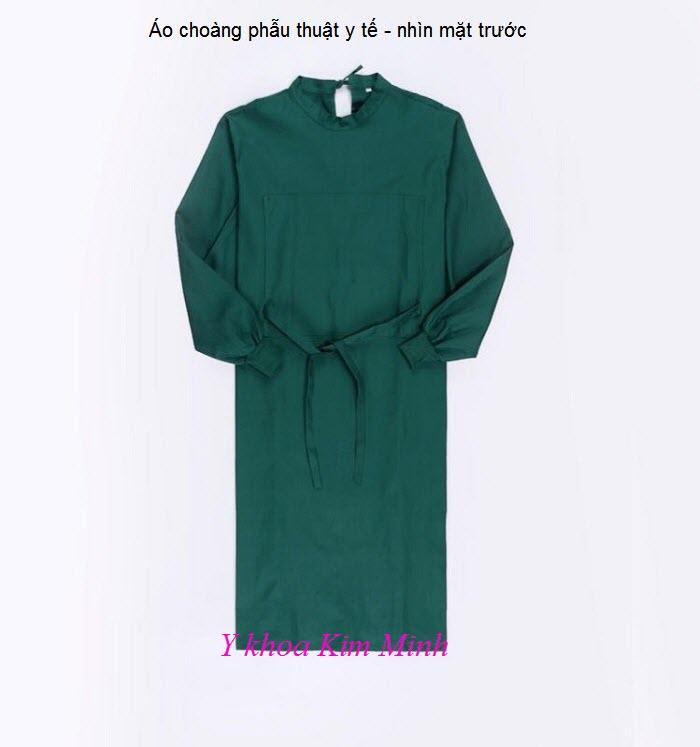 Áo choàng phẫu thuật y tế nhìn mặt trước - Y khoa Kim Minh