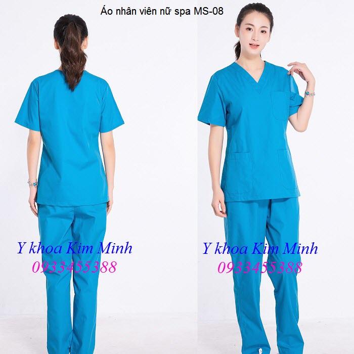 Áo spa dùng cho nhân viên nữ MS-08 - Y khoa Kim Minh