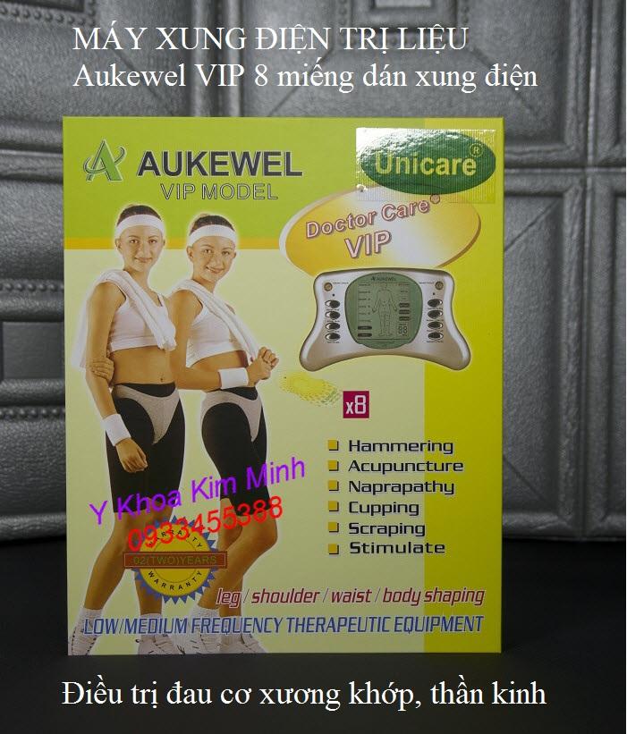 Aukewel VIP máy xung điện trị liệu giảm đau 8 miếng dán - Y Khoa Kim Minh