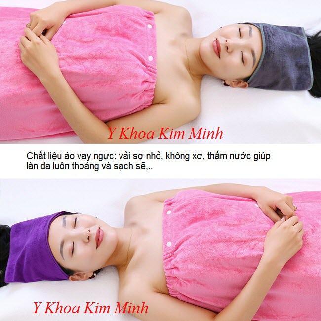 Bán áo vay ngực dùng tại Spa - Y Khoa Kim Minh 0933455388