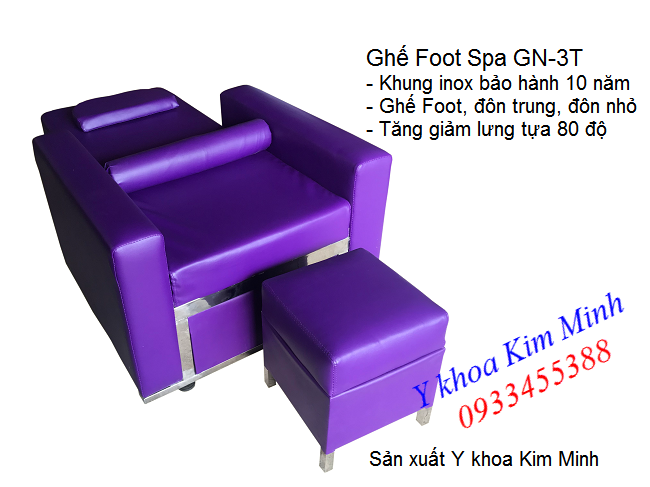 Bán ghe foot spa lam neo massage chan body 3 ghế GN-3T - Y khoa Kim Minh 0933455388