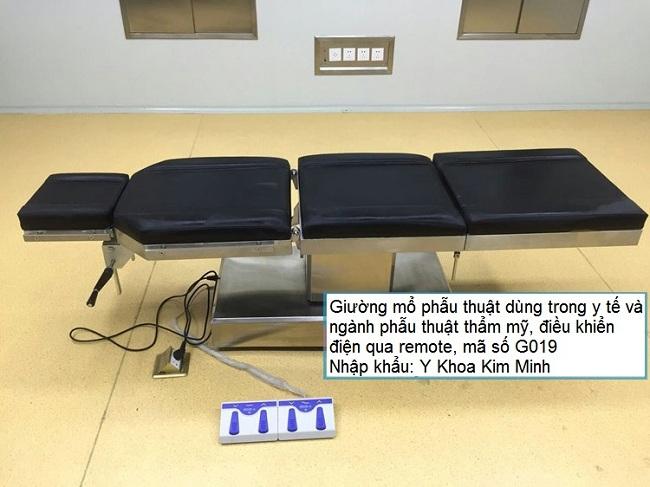 Bán giường phẫu thuật thẩm mỹ điều khiển điện G019 tại Tp Hồ Chí Minh - Y khoa Kim Minh 0933455388