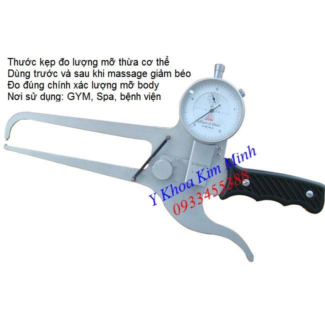 Kẹp thước đo lượng mỡ thừa cơ thể 0-50mm Shan - Y khoa Kim Minh 0933455388