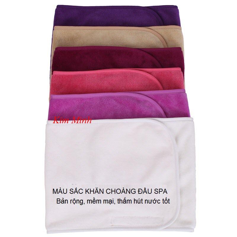 Bán khăn băng đô choàng đầu spa - Y khoa Kim Minh 0933455388