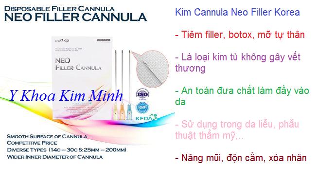 Bán kim cannula 25G dùng tiêm filler, botox, mỡ tự thân Hàn Quốc - Y Khoa Kim Minh 0933455388