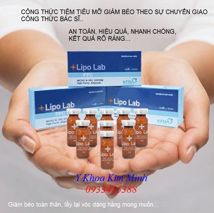Ban tinh chat tiem tieu mo giam beo Han Quoc Lipo Lab PPC Solution Korea - Y khoa Kim Minh 0933455388