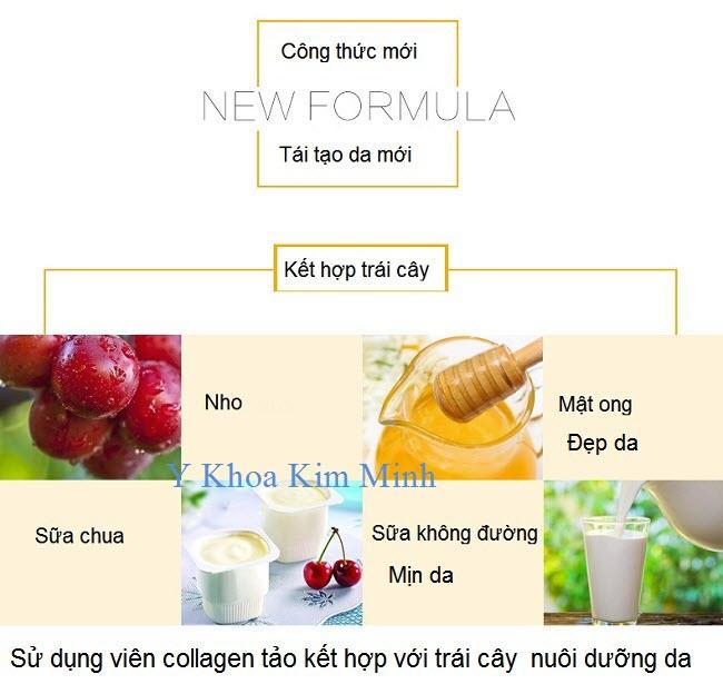 Bán viên collagen làm mặt nạ trái cây dưỡng da trắng sáng mịn da - Y Khoa Kim Minh 0933455388