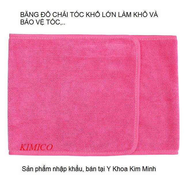 Băng đô chải tóc bảo vệ tóc làm khô tóc khi nằm chăm sóc da tại spa - Y Khoa Kim Minh