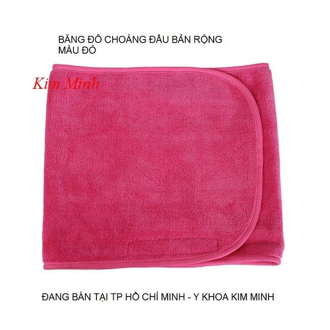 Băng đô choàng đầu giữ tóc màu đỏ bản khổ lớn - Y Khoa Kim Minh 0933455388