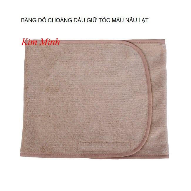 Băng đô choàng đầu giữ tóc màu nâu lạt - Y khoa Kim Minh 0933455388